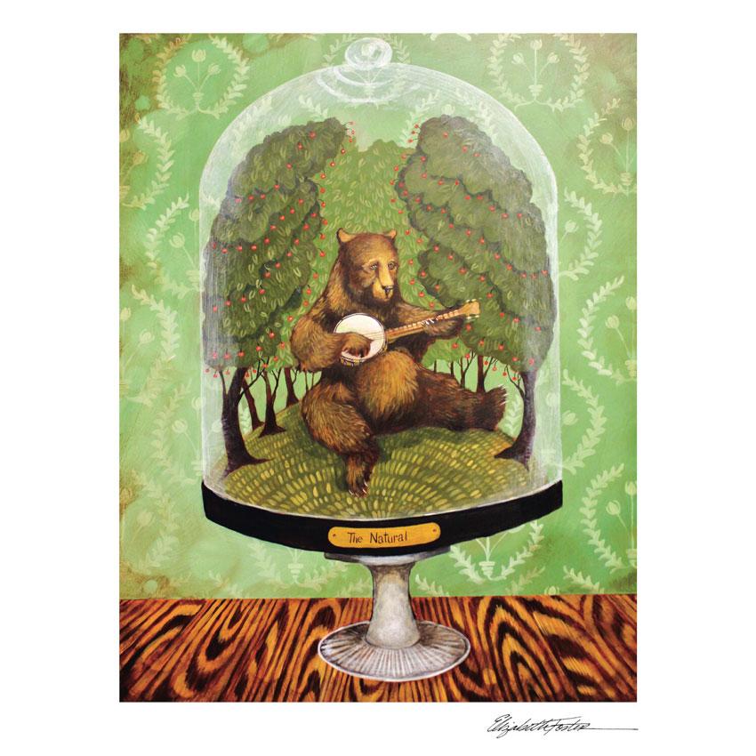 """""""THE NATURAL""""- Art Print von Elizabeth Foster - liebenswerte und skurrile Kunst von Hester & Cook  Kopie"""