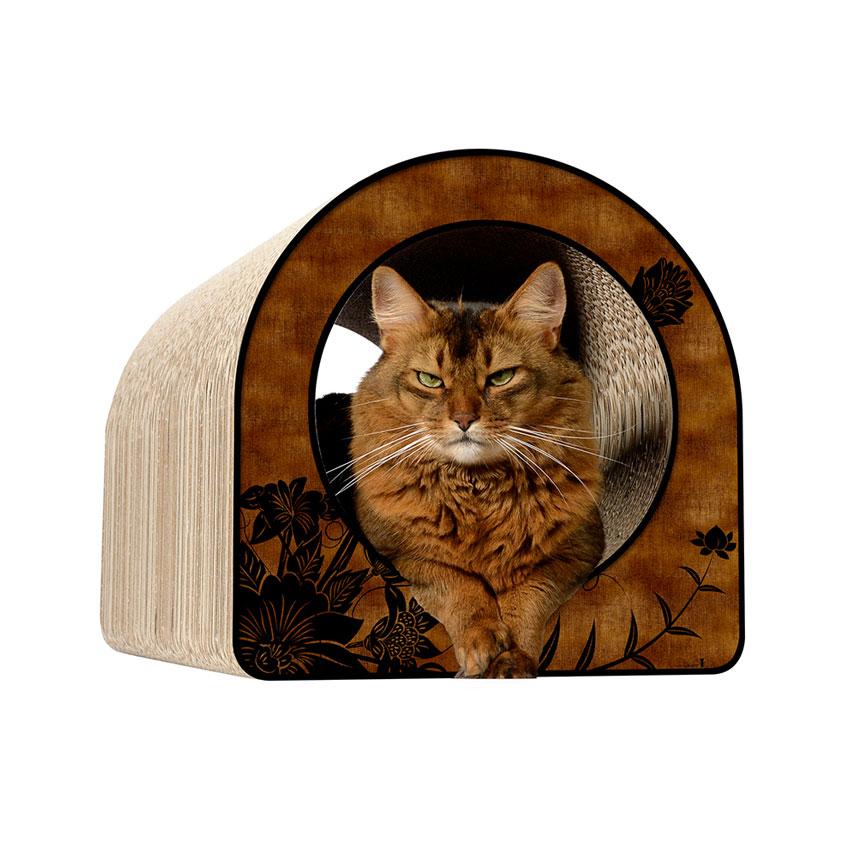 Le Tube L - Farbwelt Asia roille - Kratzmöbel für Katzen