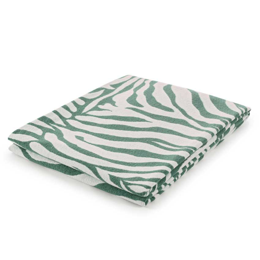 "Plaid / Decke ""Cebra"" jade 140 x 180 cm"