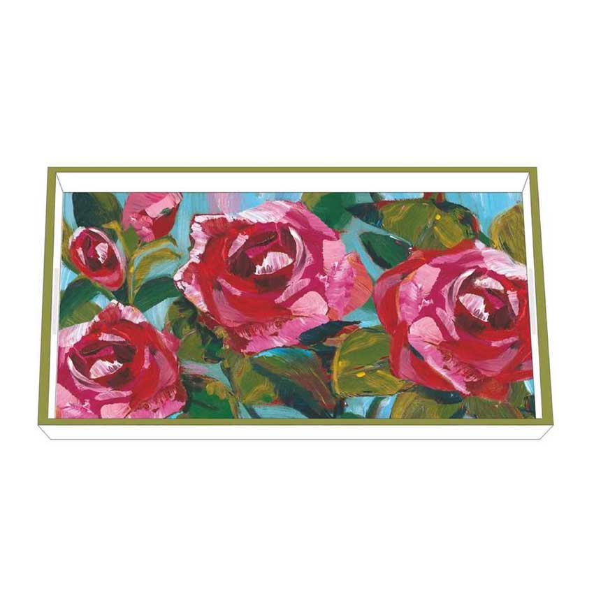 """""""Rose Musée"""" / Wooden Lacquer Tray - Tablett von PPD"""