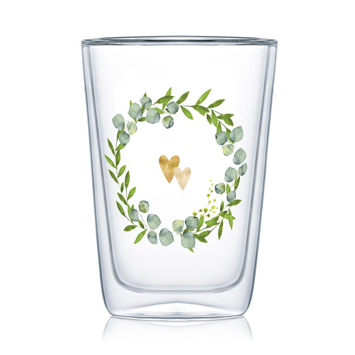 Two Hearts - Latte Macchiato Glas von PPD