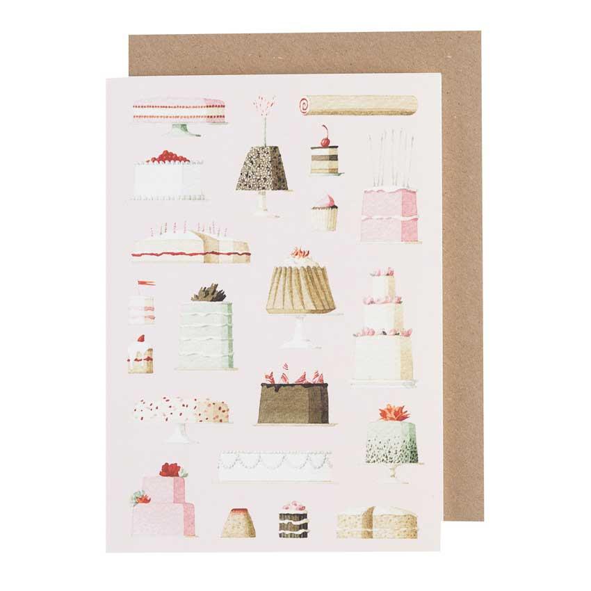 """Grußkarte """"CAKES"""" von Laura Stoddart"""