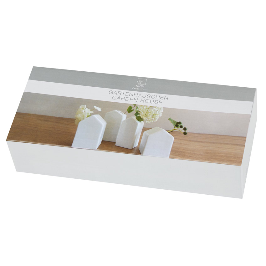 """""""Gartenhäuschen"""" - Set aus 4 Vasen - Porzellangeschichten von Räder"""