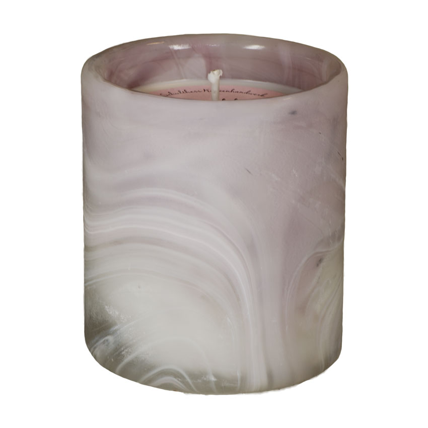 Marble Pot rosa Floral Relax - von Schulthess Kerzen