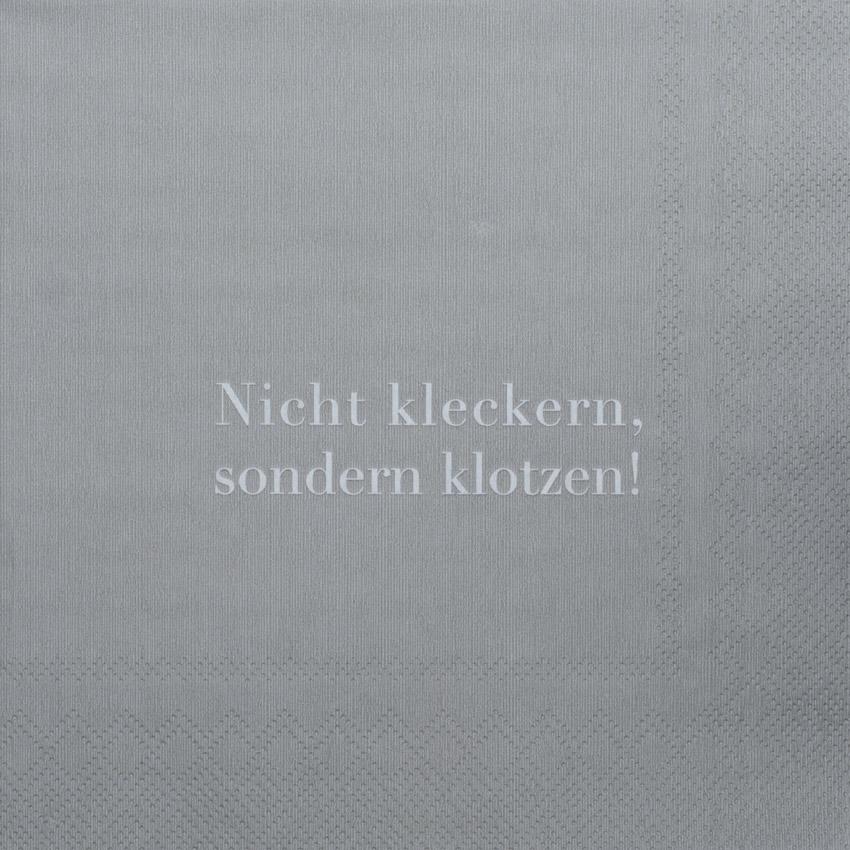 """""""Nicht kleckern sondern klotzen"""", große Papierservietten - Design Stories von Räder Kopie"""