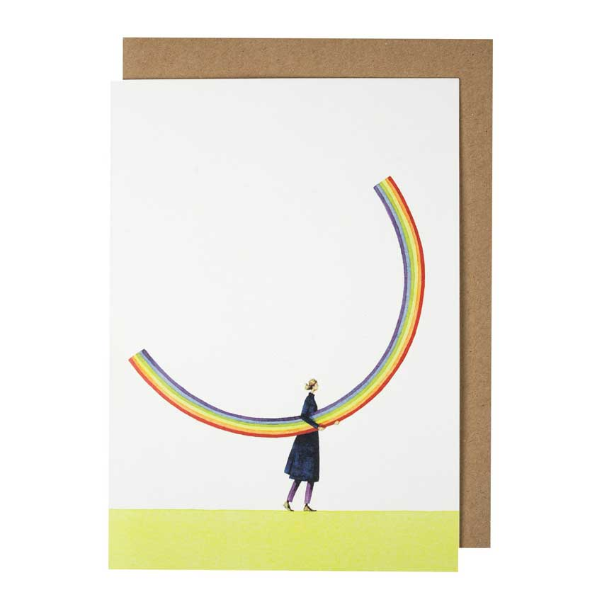 """Grußkarte """"RAINBOW GIRL"""" von Laura Stoddart"""