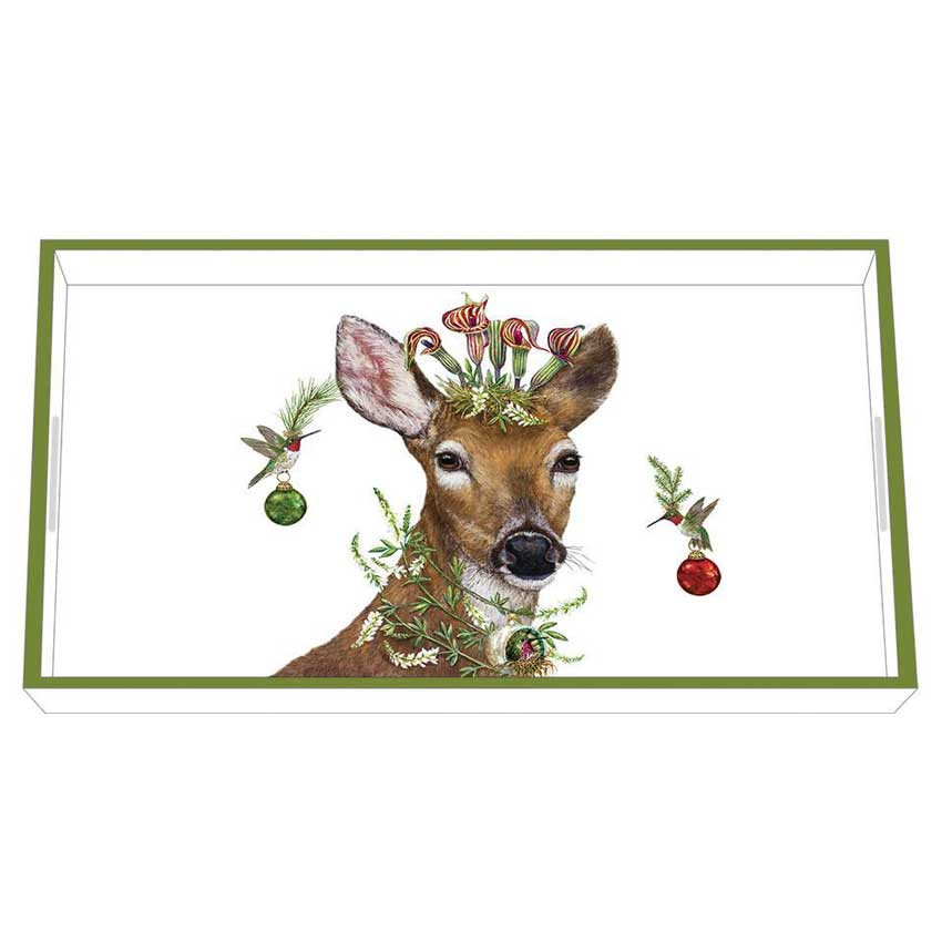 """""""Christmas Princess"""" / Wooden Lacquer Tray - Tablett von PPD"""