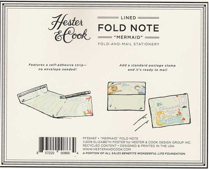 "Fold Note ""MERMAID"" von Hester & Cook"