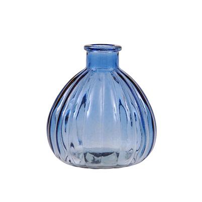 """Mini Vase """"Ellie"""" - blaues Glas - von Miljögarden"""