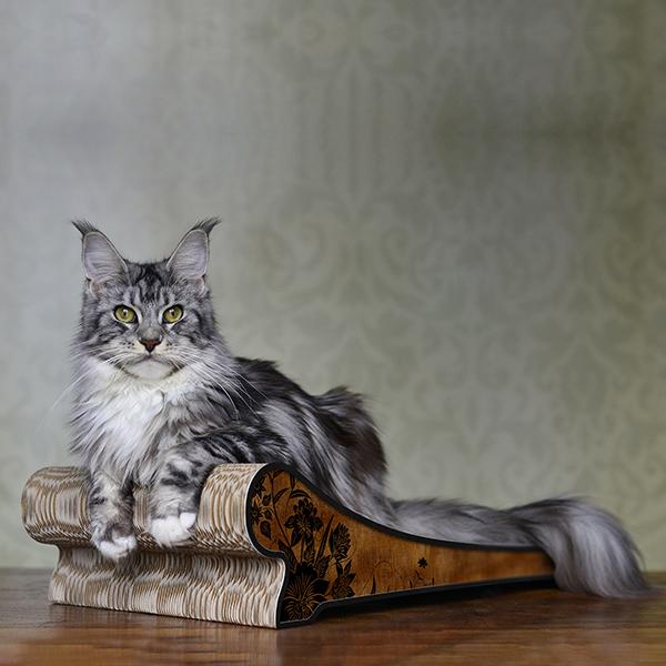 Lounger - Farbwelt Asia Rouille - Kratzmöbel für Katzen