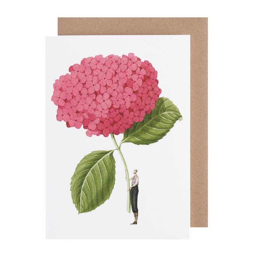 """Grußkarte """"PINK HYDRANGEA"""" von Laura Stoddart"""