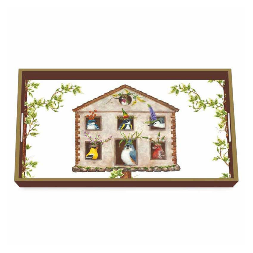 """""""House Party"""" / Wooden Lacquer Tray - Tablett von PPD"""