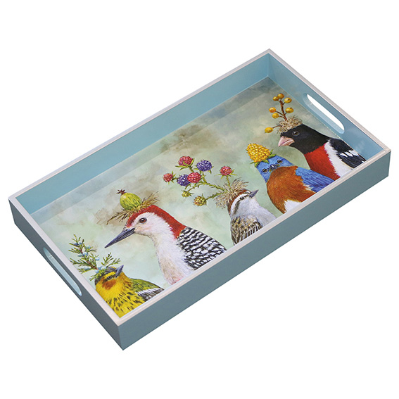 """""""Berry Festival"""" Wooden Lacquer Tray - Tablett von PPD"""