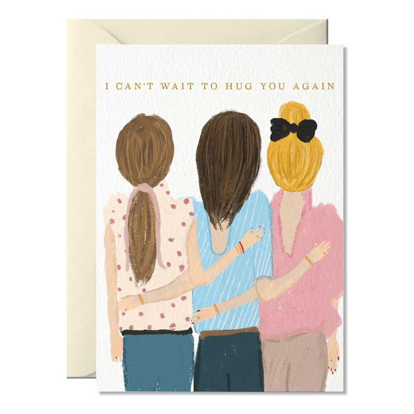 "Grußkarte ""I can't wait to Hug you again"" von Nelly Castro"