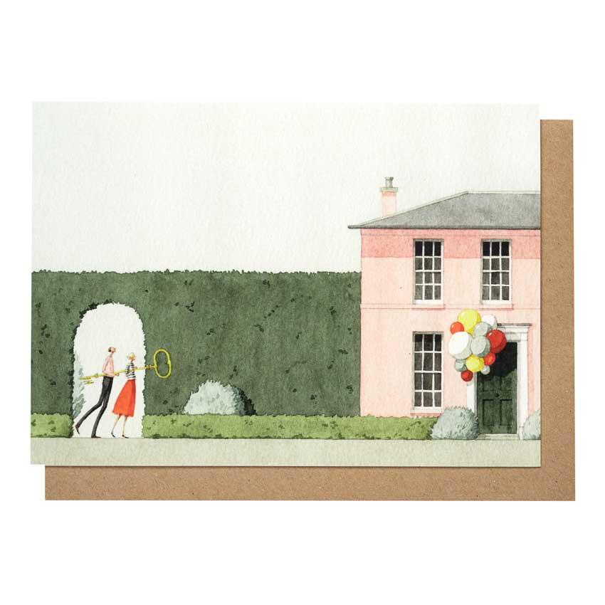 """Grußkarte """"NEW HOME"""" von Laura Stoddart"""