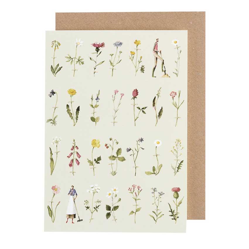 """Grußkarte """"WILD FLOWERS"""" von Laura Stoddart"""