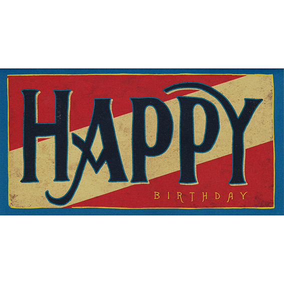 "Geburtstagskarte ""BIG HAPPY"" von Hester & Cook"