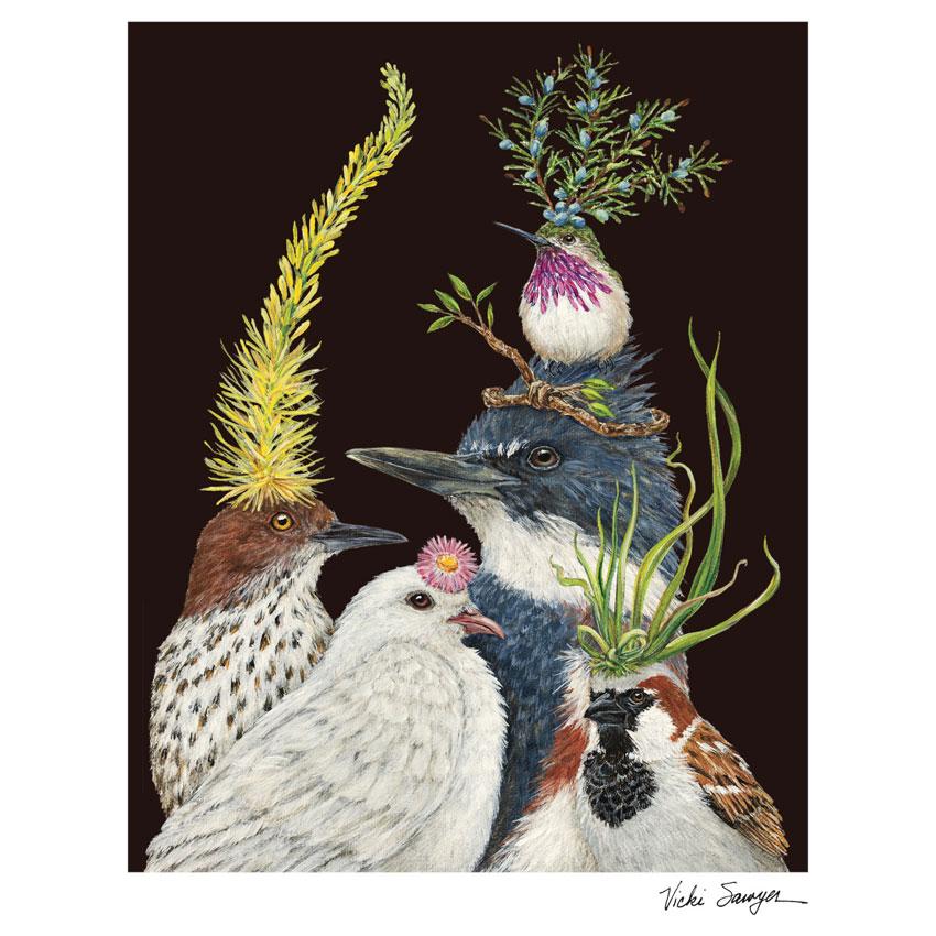 """""""SOIREE""""- Art Print von Vicki Sawyer - liebenswerte und skurrile Kunst von Hester & Cook"""