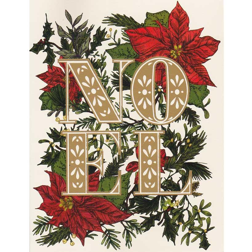 """Weihnachts Grußkarte """"NOEL"""" von Hester & Cook"""