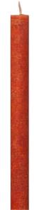 Schulthess Stabkerzen - Farbwelt Orangebraun dunkel