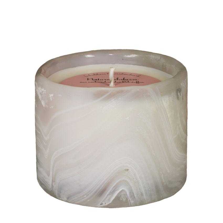 Marble Zylinder rosa - Floral Relax - von Schulthess Kerzen