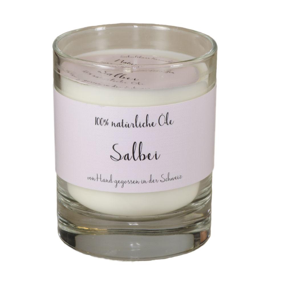 Schulthess Duftkerze Salbei  - im Whiskyglas - mit 100% natürlichen Ölen Kopie