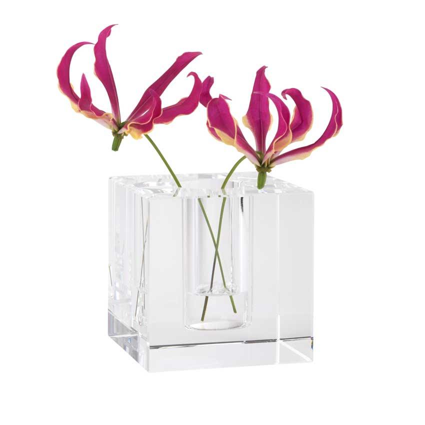 Dioptrics Kristallglas Vase - Quader S - von der Gift Company