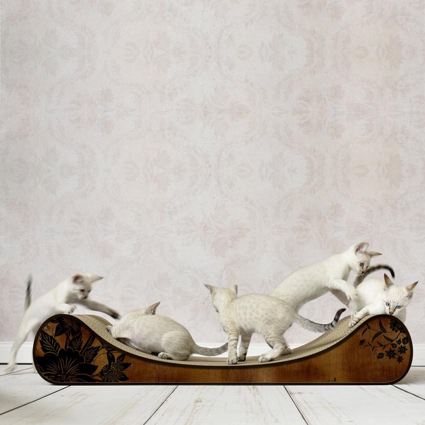 Le Divan - Farbwelt Asia Rouille - Kratzmöbel für Katzen