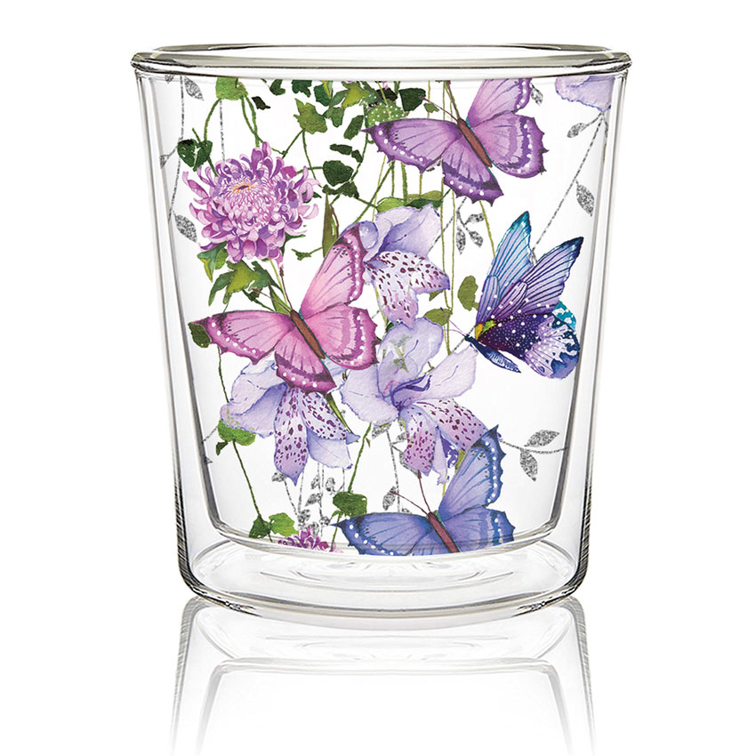Flower Splash - Double wall Trend Glas von PPD