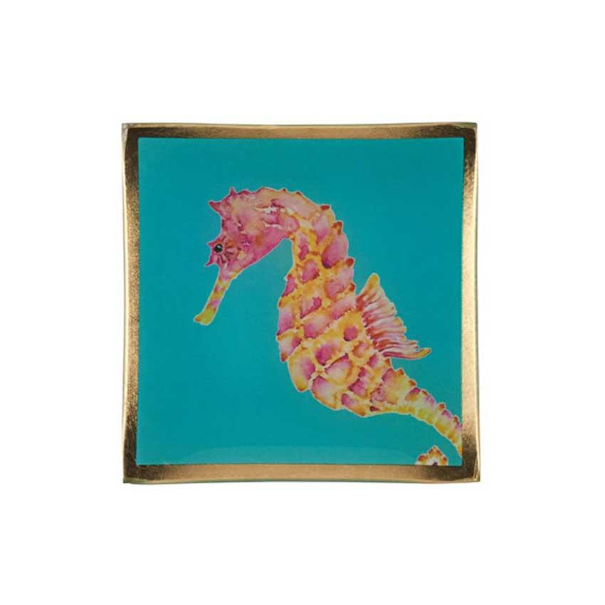 """Love Plates - Glasteller """"Seepferdchen"""" von Gift Company"""