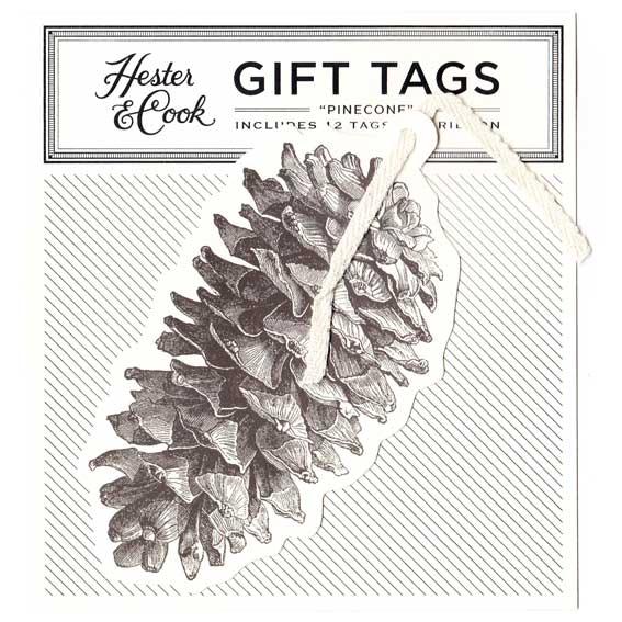 """Gift Tag - Geschenk Anhänger """"PINE CONE"""" von Hester & Cook"""