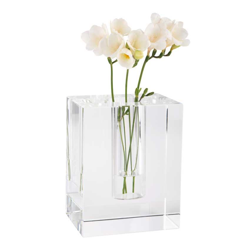 Dioptrics Kristallglas Vase - Quader L - von der Gift Company