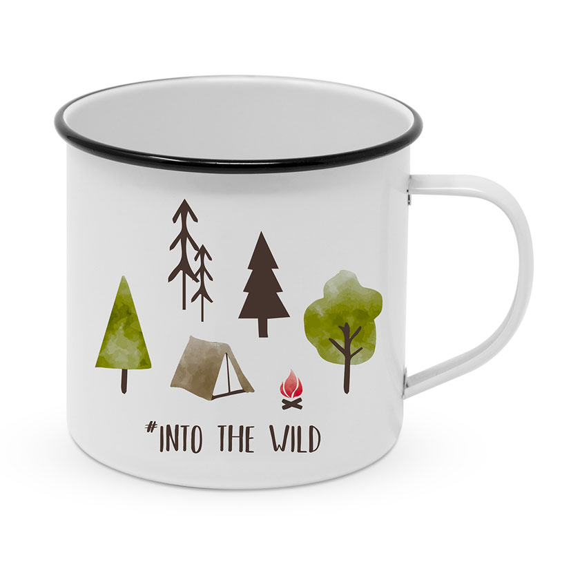 "Happy Metal Mug ""Into the wild"""