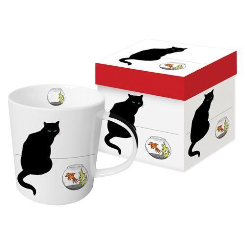 Black Cat Goldfish - die große Porzellantasse von PPD