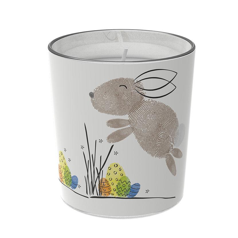 """Osterkerzen Glas Rita - """"der Glückliche"""" - von Engels Kerzen"""