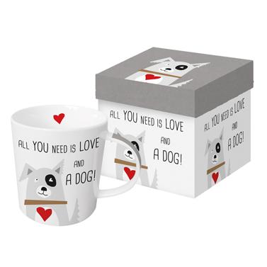 Love and Dog - die große Porzellantasse von PPD