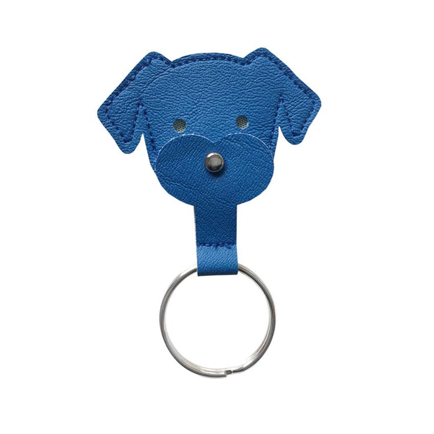 Schlüsselanhänger Dogchip blau