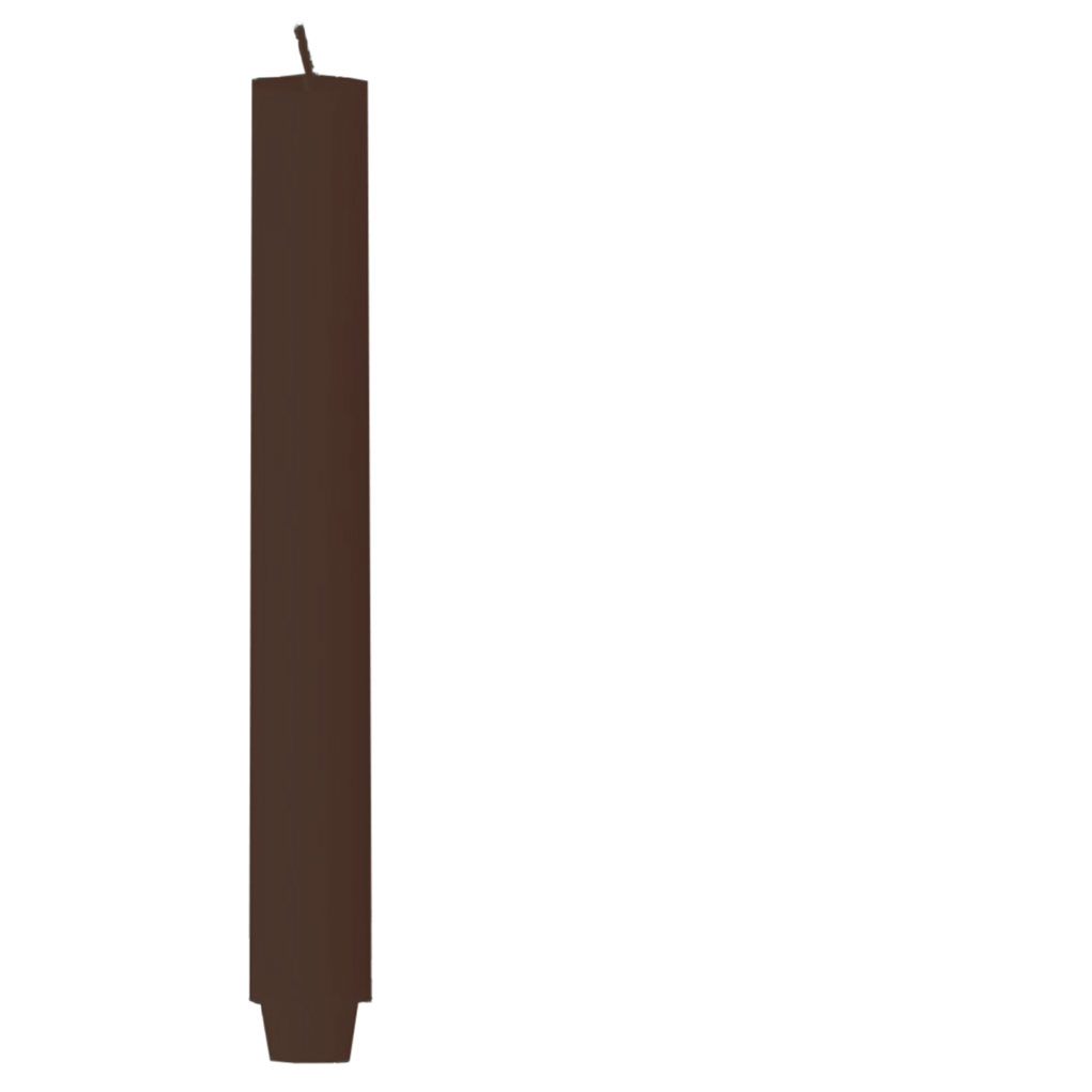Engels ORIGINAL - Stabkerze gegossen - Farbe Marone