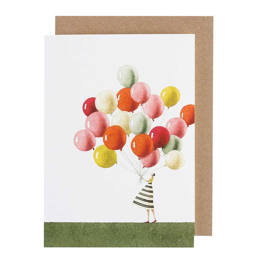 """Grußkarte """"BALLOONS"""" von Laura Stoddart"""