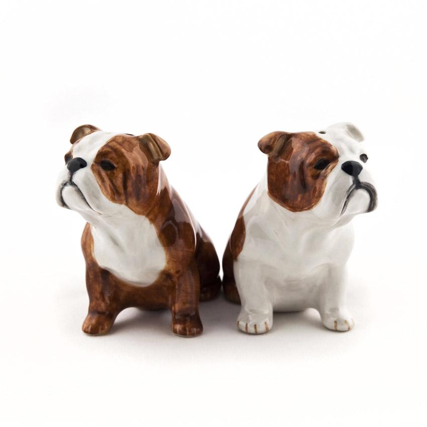 English Bulldog - die Salz und Pfeffer Streuer von Quail Ceramics