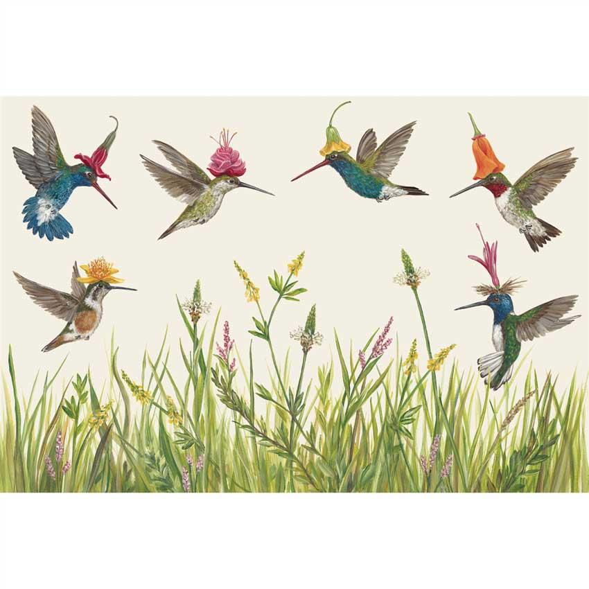 "Placemats - Papier Tischsets ""HUMMINGBIRDS"" von Hester & Cook"