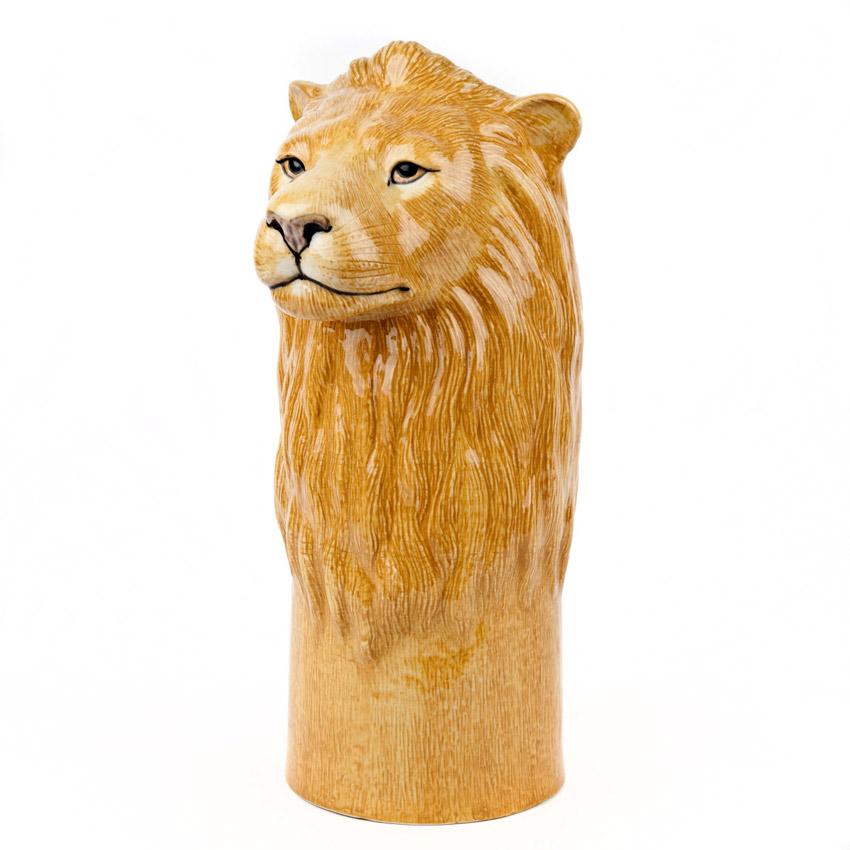 Quail Ceramics - die große Löwen Blumenvase