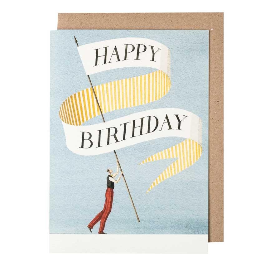 """Grußkarte """"BIRTHDAY BANNER GENT"""" von Laura Stoddart"""