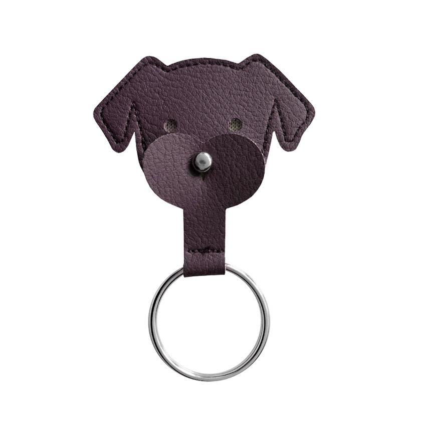 Schlüsselanhänger Dogchip kastanie