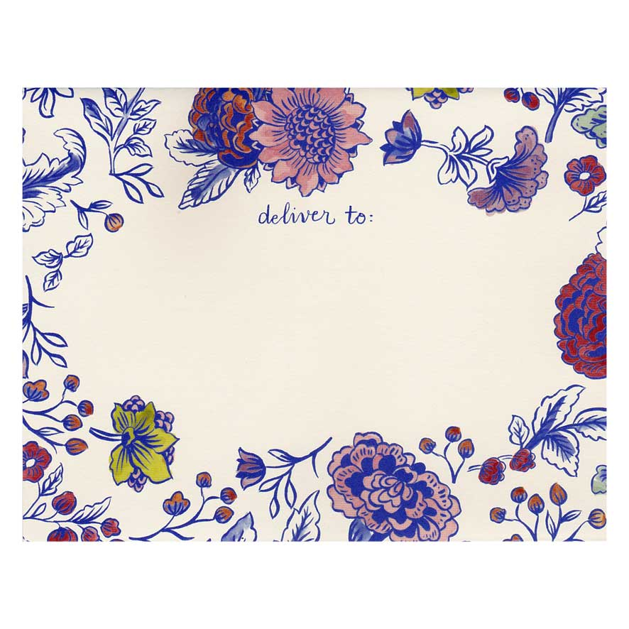 """Fold Note """"CHINA BLUE FLORAL"""" von Hester & Cook"""