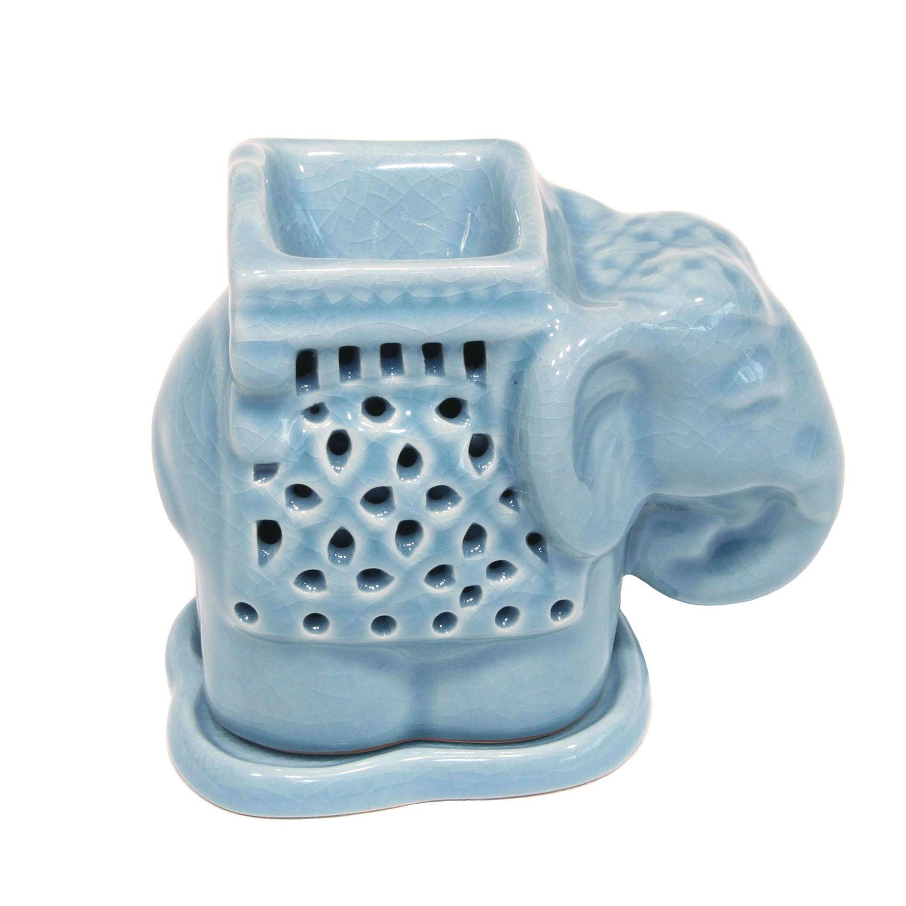 """Aromaöl Lampe Elefant groß - """"bleu"""""""