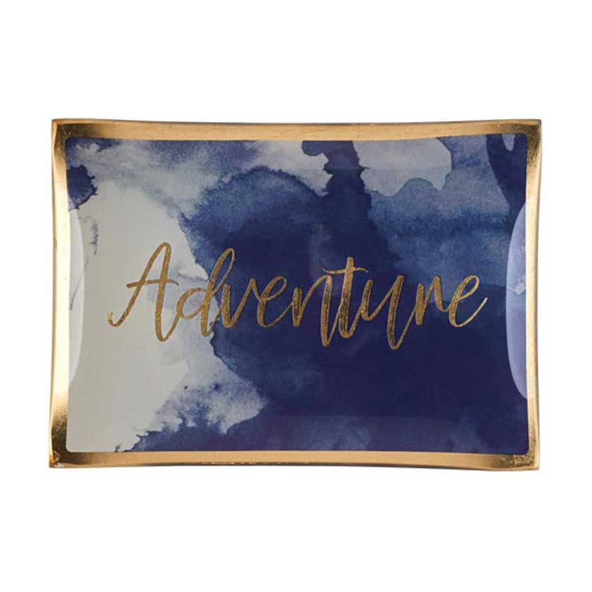 """Love Plates - Glasteller """"Adventure"""" von Gift Company"""
