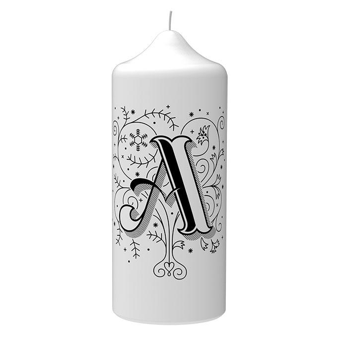 Weihnachts Set XMAS in Elfenbein - von Engels Kerzen