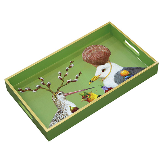 """""""Sully's Party"""" / Wooden Lacquer Tray - Tablett von PPD"""