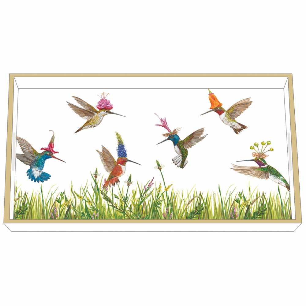"""""""Meadow Buzz"""" / Wooden Lacquer Tray - Tablett von PPD"""